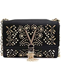 1e066e43cd91e Valentino By Mario Valentino Marilyn Black Stud Embellished Cross-Body Bag  Black Leather
