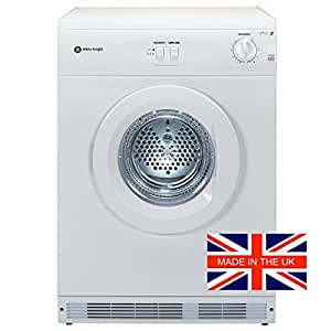 White Knight WK44AW Reverse Vented Tumble Dryer, 6kg capacity, White