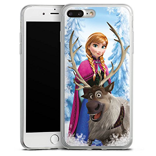 Apple iPhone X Slim Case Silikon Hülle Schutzhülle Disney Frozen Anna & Sven Fanartikel Geschenke Silikon Slim Case transparent