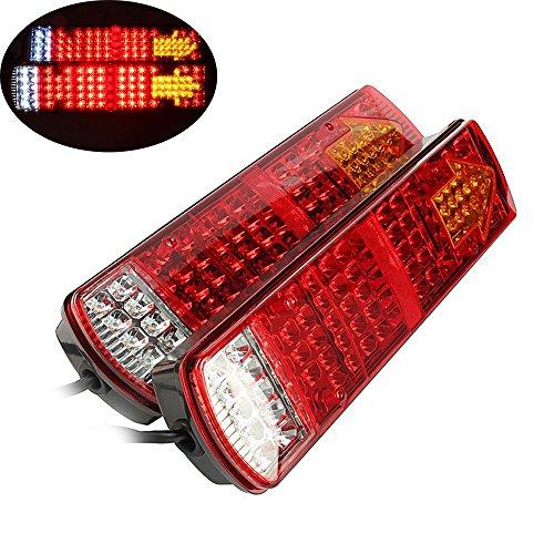 Rücklicht Anhänger, HEHEMM 87 LED Hinten Warnlichter LED Lampen Hintere Lampen Wasserdichte Rückleuchten Hintere Teile für Trailer LKW Anhänger Recovery 24 V (2 Stück) (Anhänger Für Lkw Teile)