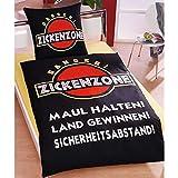 Global Labels Bettwäsche Zickenzone, Bettdeckenbezug: ca. 140cm x 200cm, Kissenbezug: ca. 70cm x 90cm, 100% Baumwolle