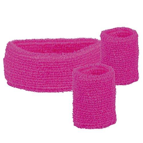 Kostüm Stirnband - Boland 01895 3 Schweißbänder, One Size