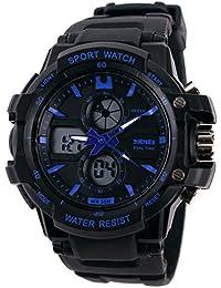 Reloj doble / deportes al aire libre de los hombres / reloj electrónico impermeable de la montaña / reloj multi-función del salto , small blue