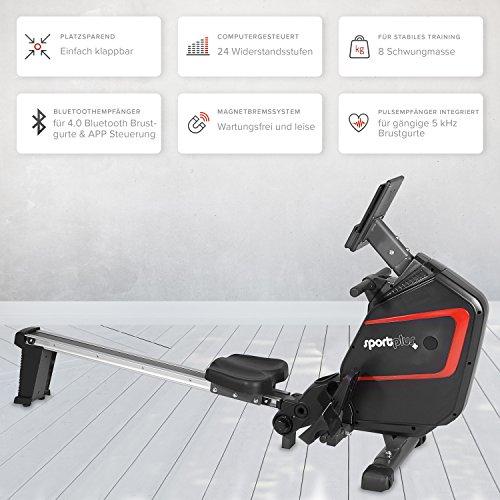 SportPlus Ruderergometer – Rudern zuhause Bild 3*