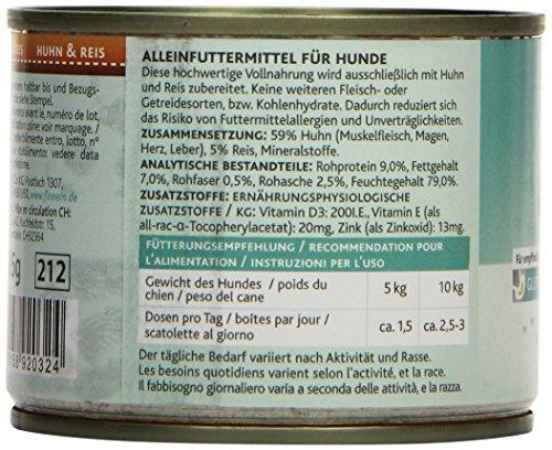 Rinti Hundefutter Sensible Huhn & Reis 185 g, 12er Pack (12 x 185 g) - 3