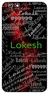 Lokesh (King Of World, Lord Bramha, Lord Indra) Name & Sign Printed All over customize & Personalized!! Protective back cover for your Smart Phone : Huawei Honor-8