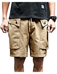 Yujeet Hombre Clásico Jeans Shorts Rotos Ripeado Destruido Slim Fit Straigth Bermudas Vaqueros Cortos de Playa irzPFC5U