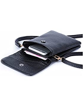 [Sponsorizzato]Regalo Donna Natale, Hengwin Piccolo Borsello in pelle PU borsa del portafoglio sacchetto del cellulare con tracolla...