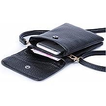 Hengying Bolso para Movil Mujer, Bolsa para el Teléfono, Bolso Pequeño Mujer para Movil de Cuero Sintético, Bolsos de Hombro para Niñas para Galaxy J3 J5 J7 A5 S8 iPhone 5S 6S 7 8 Plus