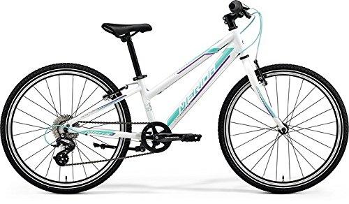 Unbekannt Kinder Fahrrad 24 Zoll weiß - Merida MATTS J24 Race Mountainbike - Shimano Schaltung 8 Gänge