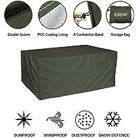 Sunray Funda Protectora para Muebles de Jardín Impermeable y Resistente Material de Poliéster 210D Tejido (Oxford) con Revestimiento de PU - Verde Oscuro, 216x 173x 89cm/ 7x 5.6x 2.9ft
