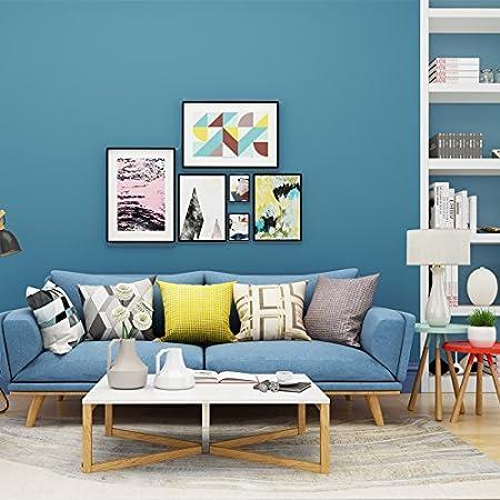 YUELA Einfache Farbe Plain Vliestapeten Blau Grau Gelb Grün   Schlafzimmer  Wohnzimmer Hintergrundbild, See Blau 3 Reis Preise, Große: Amazon.de:  Baumarkt