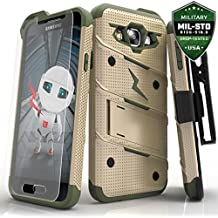 Samsung Galaxy On5 Case, Zizo [Bolt Series] w/ [Galaxy On5 Screen Protector] Kickstand [12 ft. Military Grade Drop Tested] Holster - Galaxy G550
