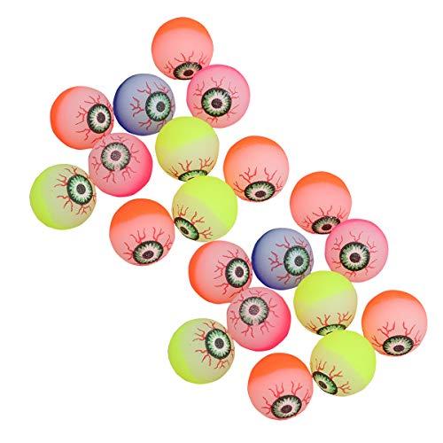 en Bouncy Balls Bouncy Augäpfel im Dunkeln leuchten Scary Eye Balls Halloween Party Supplies ()