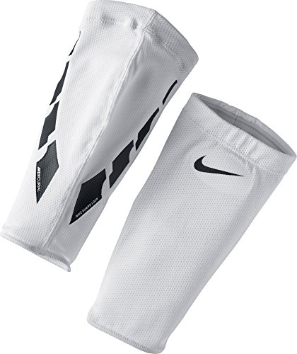 Nike Herren Guard Lock Elite Sleeves für Schienbeinschoner White/Black