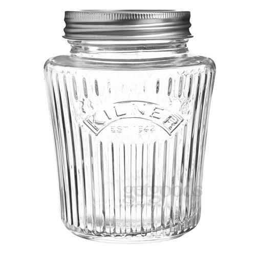 Kilner Vorratsglas, 0,5 l, Vintage-Design, Schraubverschluss-Öffnung, Zum Einkochen und zur Aufbewahrung von Konserven und von Marmeladen
