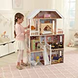 #9: Solid Wood Savannah 4 Story Dollhouse with 13 Accessories Included