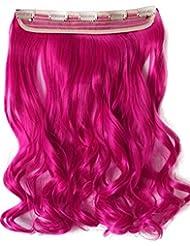 PRETTYSHOP coloré 60 cm clip en extensions Weave Hair Extensions de cheveux épaississants chaleur postiche résistantes différentes couleurs