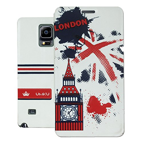 Heartly Country Series Printed PU Leather Flip Bumper Case Cover For Samsung Galaxy Note 4 - London Red  available at amazon for Rs.249