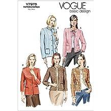 Vogue Patterns V7975 - Patrones de Costura para Chaquetas de Mujer (Talla D: 42