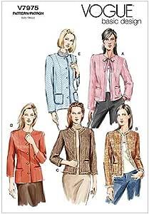 Burda-6465 Burda Ladies Sewing Pattern 6465 Collarless Jackets