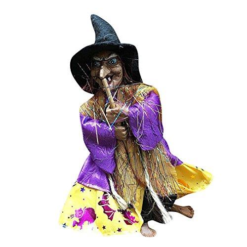 rbis Bar Dekorative Stützen Flying Sweep Hexe Anhänger Hängende Puppen (Lila) (Einfach Gruselig Schminken Halloween)