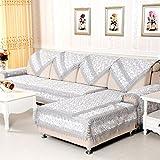 KA-ALTHEA- Sofá cojín del sofá toalla antideslizante cubierta de tela funda de sofá minimalistas modernas ventanas de madera de estilo europeo y el amortiguador de la almohadilla de cuatro estaciones -El amortiguador del sofá conjuntos de sofás Funda ( Color : E Section , Tamaño : 90*160cm )
