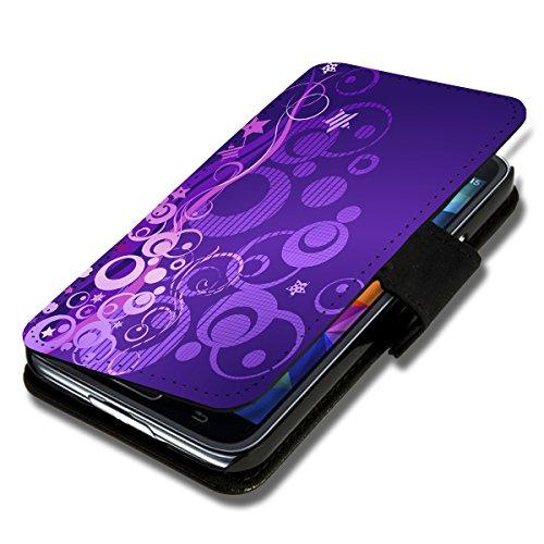 Book Style Flip Handy Tasche Case Schutz Hülle Schale Motiv Foto Etui für ZTE Blade L3 - X9 Design1