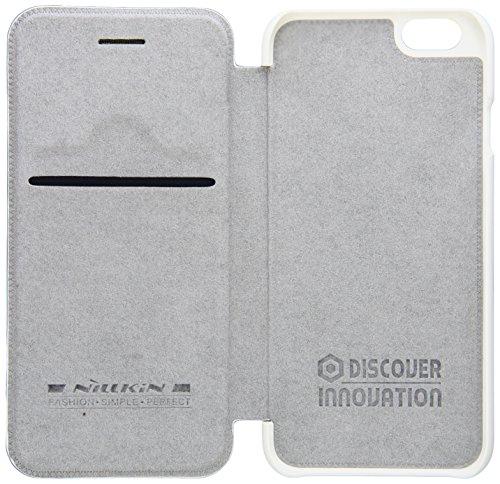 Nillkin IP6-Qin-Black Ledertasche für Apple iPhone 6 schwarz weiß