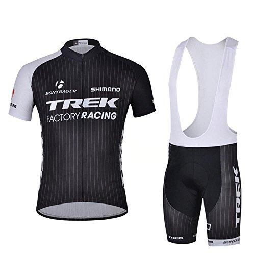 logas Herren atmungsaktiv Radfahren Jersey Kurzarm Bike Biking-Shirt-Oberteil mit 3D Padded Bib Shorts Set Reitsportkleidung