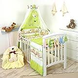 10tlg. Babybettwäsche Set, 135x100cm, für 140x70cm Bett D40