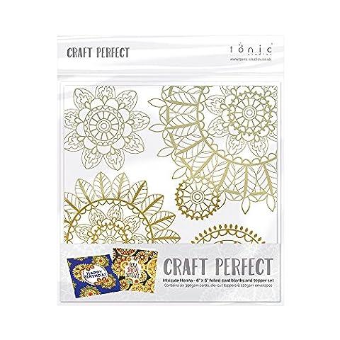 Craft perfekt Vereitelt blanko Karten 6x 6, komplizierte Henna,