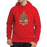 Sweatshirt à Capuche Manches Longues Je Ne Peux Pas Garder le Calme - Je Suis Irlandais - St. Paddy Day Clothing (Medium Rouge Multicolore)