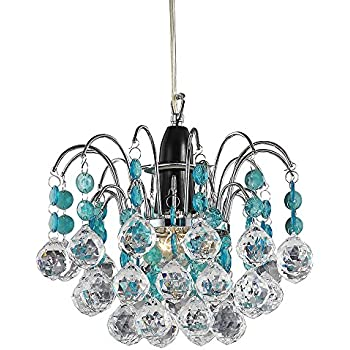 titania small chandeliers tier aqua chandelier in recycled lovers teal lights fountain sky double slate blue product glass