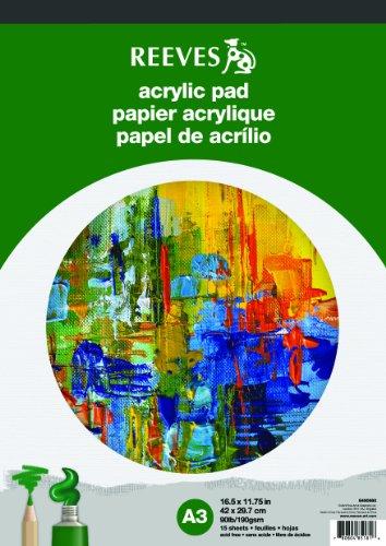 Reeves Acrylblock 15 Blatt Acrylpapier, 190g/m² - DIN A3
