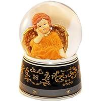 20036 Bola de nieve navidad ángel con musica medida 140 mm