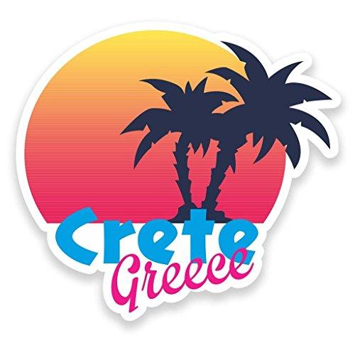 Preisvergleich Produktbild 2x Kreta Griechenland Vinyl Aufkleber Aufkleber Laptop Reise Gepäck Auto Ipad Schild Fun # 9177 - 15cm/150mm Wide