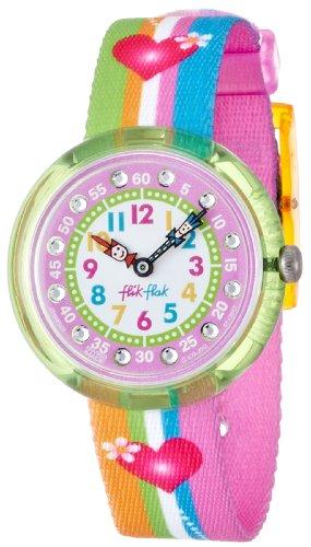 Flik Flak FBNP003-Armbanduhr für Mädchen, Mehrfarbig (Herz Swatch-uhr)
