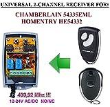 Chamberlain compatible receptor. 2-canales 433,92Mhz universal de radio módulo para Chamberlain 54335EML transmisores. 12-24V AC/DC, NO/NC 433.92Mhz r