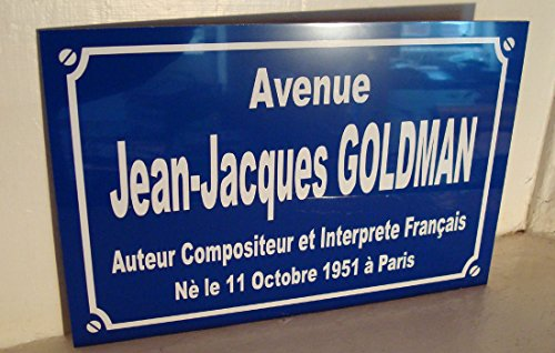 JJ GOLDMAN plaque de rue objet collection cadeau pour fan déco originale