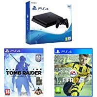 PlayStation 4 500 Gb D Chassis Slim + FIFA 17 + Rise of The Tomb Raider: 20 Year Celebration