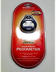 Sportline Step & Distance Pedometer, Dual Function by Sportline