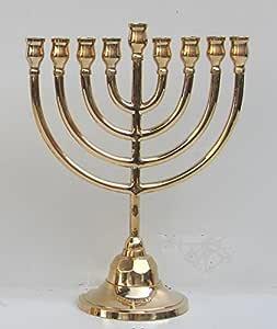 Chanukkaleuchter 7-armig Menorah messing Davidleuchter Kerzenleuchter DAVIDSTERN