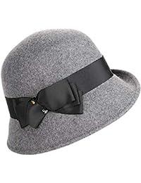 Lady di campana di vetro Fedora Cappello da buc Cappelli a bombetta di  inverno dei cappelli a floppy di… 335fca7d26b0