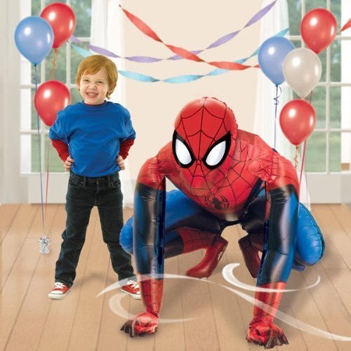 Spiderman Airwalker Lebensgroß Folien Helium Geburtstags Party XL Ballon