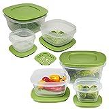 Rubbermaid 12-Set von produzieren Saver Kunststoff Frischhaltedosen mit Deckel & Fresh Vent für Atmungsaktivität