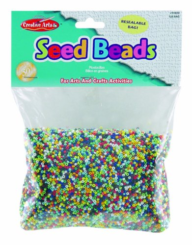 Charles Leonard Creative Arts Pony Perlen, 6x 9mm, verschiedene Neon Farben, 1000/Tasche (59010) Samen sortiert