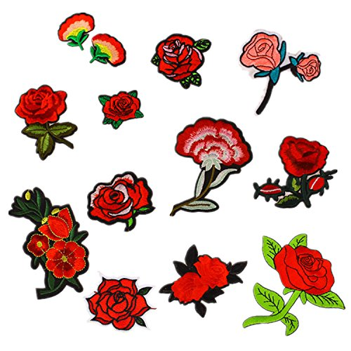 12-pcs-exquisite-red-flowers-pattern-diy-clothes-patches-stickers-embroidered-sew-patches-12-styles-