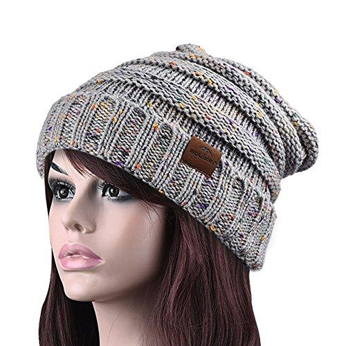 Strickmütze, Moliker Unisex Winter Warm Slouchy Wolle Hut Schädelmütze zum Frau & Männer (E9001)