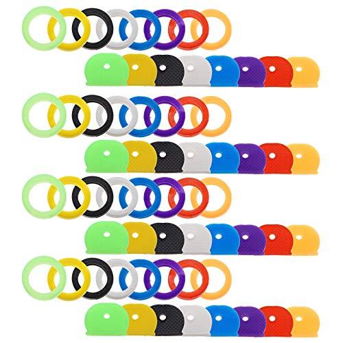 YINETTECH Ersatz-Schlüssel, Standardgröße, Leuchtend, außen, Nylon, geflochten, Grün, Basketball-Schlüssel-Set, bunt, Gelb/Orange/Rot